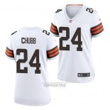 Camiseta NFL Game Mujer Chicago Bears Nick Chubb Blanco