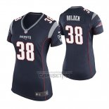 Camiseta NFL Game Mujer New England Patriots Brandon Bolden Azul