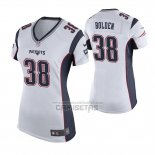 Camiseta NFL Game Mujer New England Patriots Brandon Bolden Blanco