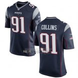 Camiseta NFL Game Nino New England Patriots Collins Negro