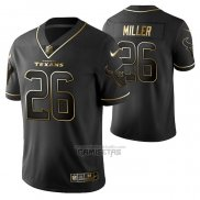 Camiseta NFL Limited Houston Texans Lamar Miller Golden Edition Negro