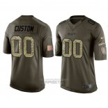Camiseta NFL Limited Kansas City Chiefs Personalizada Salute To Service Verde2