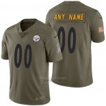Camiseta NFL Limited Pittsburgh Steelers Personalizada 2017 Salute To Service Verde