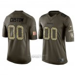 Camiseta NFL Limited Pittsburgh Steelers Personalizada Salute To Service Verde
