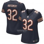 Camiseta NFL Game Mujer Chicago Bears David Montgomery Azul