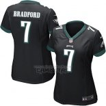 Camiseta NFL Game Mujer Philadelphia Eagles Bradford Negro