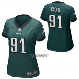 Camiseta NFL Game Mujer Philadelphia Eagles Fletcher Cox Verde