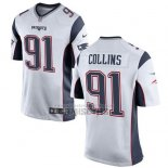 Camiseta NFL Game Nino New England Patriots Collins Blanco