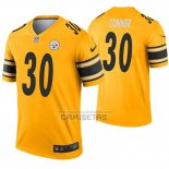 Camiseta NFL Legend Pittsburgh Steelers 30 James Conner Inverted Oro