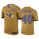 Camiseta NFL Limited Baltimore Ravens Harrison Big Logo Number Amarillo