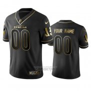 Camiseta NFL Limited Chicago Bears Personalizada Golden Edition Negro