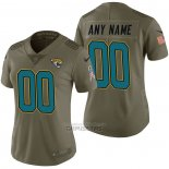 Camiseta NFL Limited Mujer Jacksonville Jaguars Personalizada 2017 Salute To Service Verde