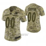 Camiseta NFL Limited Mujer Pittsburgh Steelers Personalizada 2018 Salute To Service Verde