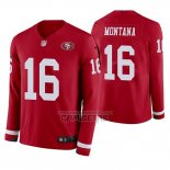 Camiseta NFL Therma Manga Larga San Francisco 49ers Joe Montana Rojo