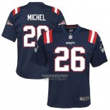 Camiseta NFL Game Nino New England Patriots Sony Michel Azul