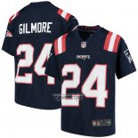 Camiseta NFL Game Nino New England Patriots Stephon Gilmore Azul