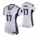 Camiseta NFL Game Mujer New England Patriots Antonio Brown Blanco