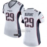 Camiseta NFL Game Mujer New England Patriots Blount Blanco