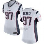 Camiseta NFL Game Mujer New England Patriots Branch Blanco