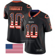 Camiseta NFL Limited Chicago Bears Trubisky Rush USA Flag Negro