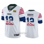 Camiseta NFL Limited Green Bay Packers Aaron Rodgers Independence Day Blanco