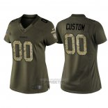 Camiseta NFL Limited Mujer Pittsburgh Steelers Personalizada Salute To Service Verde