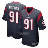 Camiseta NFL Game Houston Texans Carlos Watkins Azul