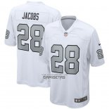Camiseta NFL Game Las Vegas Raiders Josh Jacobs Alterno Blanco