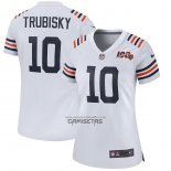 Camiseta NFL Game Mujer Chicago Bears Mitchell Trubisky 2019 Alterno Classic Blanco