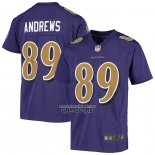 Camiseta NFL Game Nino Baltimore Ravens Mark Andrews Violeta Color Rush