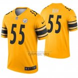 Camiseta NFL Legend Pittsburgh Steelers 55 Devin Bush Inverted Oro