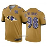 Camiseta NFL Limited Baltimore Ravens Williams Big Logo Number Amarillo