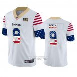 Camiseta NFL Limited New Orleans Saints Drew Brees Independence Day Blanco