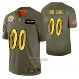 Camiseta NFL Limited Pittsburgh Steelers Personalizada 2019 Salute To Service Verde