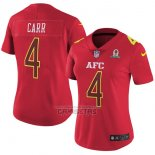 Camiseta NFL Mujer Pro Bowl AFC Carr 2017 Rojo