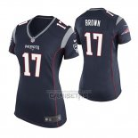 Camiseta NFL Game Mujer New England Patriots Antonio Brown Azul