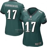 Camiseta NFL Game Mujer Philadelphia Eagles Carmichael Verde