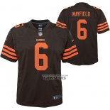 Camiseta NFL Game Nino Cleveland Browns Baker Mayfield Marron2