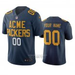 Camiseta NFL Limited Green Bay Packers Personalizada Ciudad Edition Azul