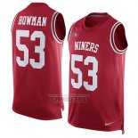 Camiseta NFL Limited San Francisco 49ers Sin Mangas 53 Bowman Rojo