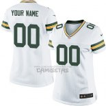 Camiseta NFL Mujer Green Bay Packers Personalizada Blanco