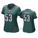 Camiseta NFL Game Mujer Philadelphia Eagles Jatavis Brown Verde