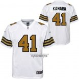 Camiseta NFL Game Nino New Orleans Saints Alvin Kamara Blanco Color Rush