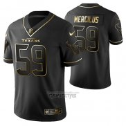 Camiseta NFL Limited Houston Texans Whitney Mercilus Golden Edition Negro