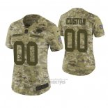 Camiseta NFL Limited Mujer Green Bay Packers Personalizada 2018 Salute To Service Verde