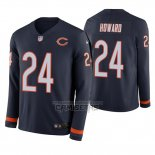 Camiseta NFL Therma Manga Larga Chicago Bears Jordan Howard Azul