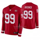 Camiseta NFL Therma Manga Larga San Francisco 49ers Deforest Buckner Rojo