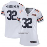 Camiseta NFL Game Mujer Chicago Bears David Montgomery Alterno Classic Blanco