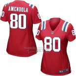 Camiseta NFL Game Mujer New England Patriots Amendola Rojo