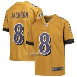 Camiseta NFL Game Nino Baltimore Ravens Lamar Jackson Inverted Gold